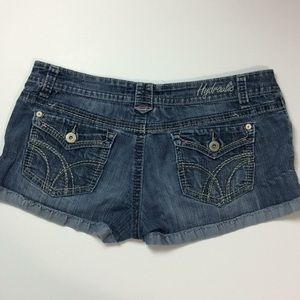 Hydraulic Womens Distressed Denim Shorts Sz 17/18